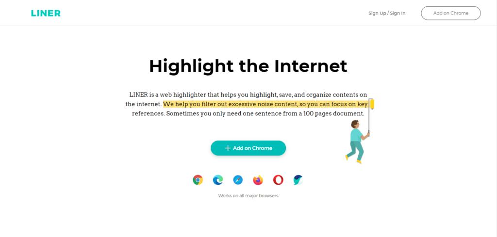 Liner Chrome Extension