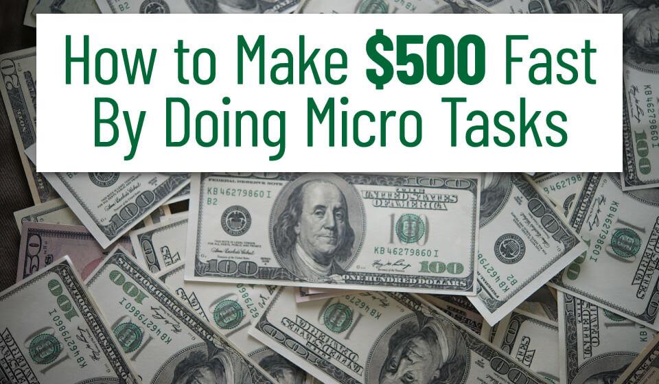 Make $500 fast